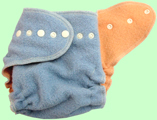 Large Baby Blue/Melon Wool Crepe LIO