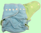 Large Baby Blue/Apple Green Wool Crepe Cover