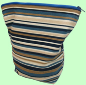 Navy Stripes Wet Bag