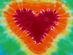 Large Heart Tie Dye Diaper