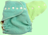Large Mint/Apple Green Wool Crepe Cover
