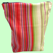 Pink and Lime Stripes Wet Bag