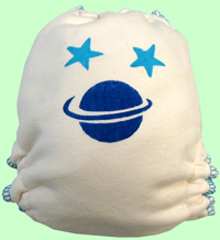 Large Saturn Hand-painted Diaper
