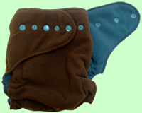 Medium Chocolate/Orbit Blue Fleece Cover