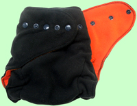 XL Black/Orange Fleece Cover