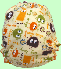 Medium Brown Ooga Booga Print/OV