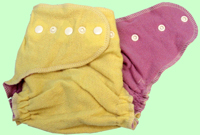 Medium Lemon/Lavender Wool Crepe Cover