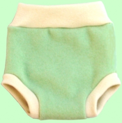 Large Green Tea Pull-Up Wool Cover W/Soaker SECOND