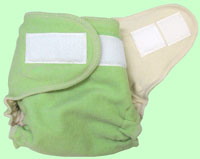 NB/SM Hand-dyed Green Tea Interlock Cover With Aplix