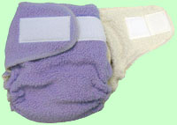 Medium Lavender Sherpa QD Diaper With Aplix