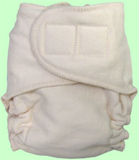 Large Organic Cotton Diaper With Aplix (Undyed)