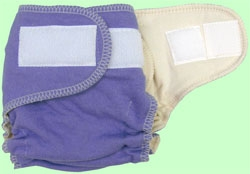 NB/SM Lavender Organic Cotton Diaper With Aplix