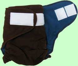 Medium Chocolate/Orbit Blue Fleece Cover With Aplix