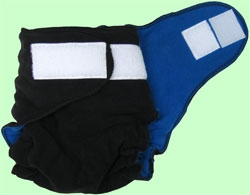 Medium Black/Royal Blue Fleece Cover With Aplix