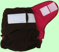 Large Chocolate/Hot Pink Fleece Cover With Aplix
