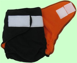 XL Black/Orange Fleece Cover With Aplix