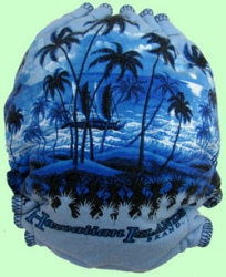 Large Hawaii Recycled Tee Diaper