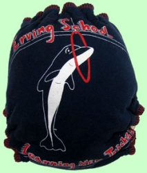 Large Dolphin Recycled Tee Diaper