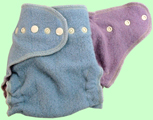 Large Baby Blue/Lavender Wool Crepe Cover