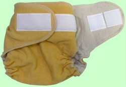Medium Maize Organic Wool Cover With Aplix