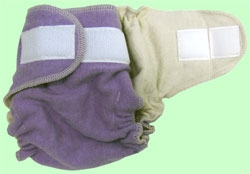 Medium Lavender Organic Wool Cover With Aplix
