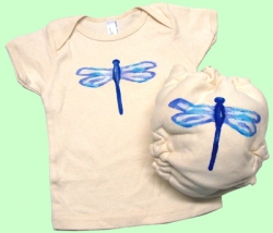 Large Dragonfly Organic Diaper