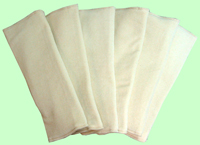 6 Pack of Large Organic Prefolds- all natural
