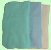 Large Organic Prefolds- Baby Blue/Mint/Natural