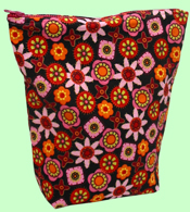 Retro Flowers Wet Bag