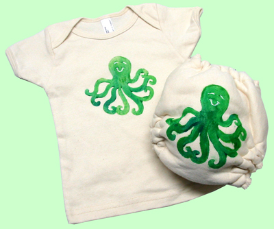 Large Octopus Organic Diaper