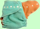 Large Mint/Melon Wool Crepe Cover
