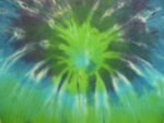 XL Blue/Green Sunburst Tie Dye Diaper