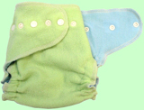 Large Apple Green/Baby Blue Wool Crepe Cover