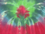 Large Peacock Tie Dye Diaper