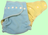 Large Baby Blue/Lemon Wool Crepe Cover