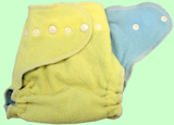 Large Lemon/Baby Blue Wool Crepe Cover