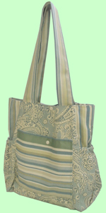 Mint Paisley/Stripe Loveybag