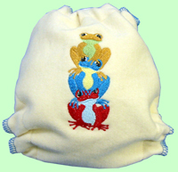 Medium Frog Trio Wool Interlock Cover