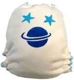 XL Saturn Hand-painted Diaper