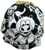 Large Cows Recycled Tee Diaper