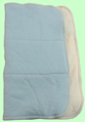 XL Organic Prefold Sampler- Baby Blue SECOND