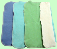 Medium Organic Prefolds- Lapis/Mint/Spring Green